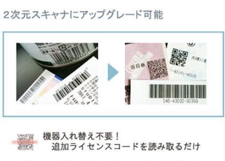 アップグレードライセンス Voyager 1472g 用 1D → 2D