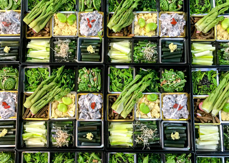 【月山 春の香味箱1段重】 採れたての山菜料理詰め合わせ