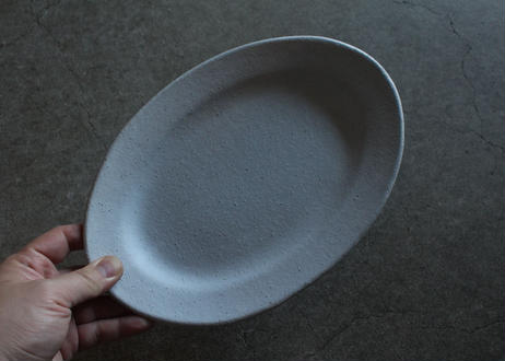 飯高幸作 リムオーバル皿