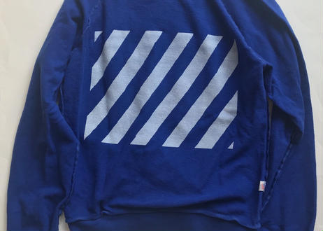 Vintage raglan sweat shirts Royal blue