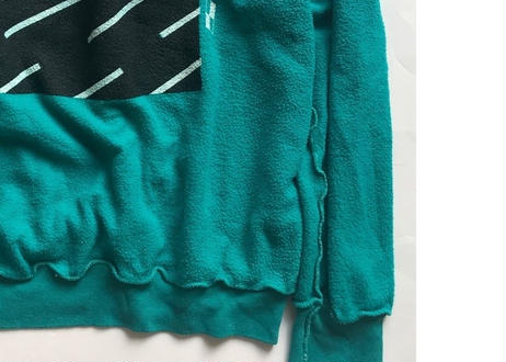 Vintage raglan sweat shirts  Teal