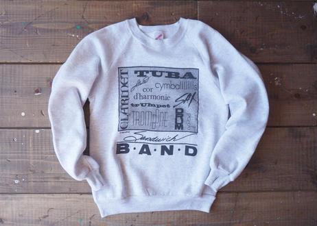 80's Jerzees musical instrument sweat shirt