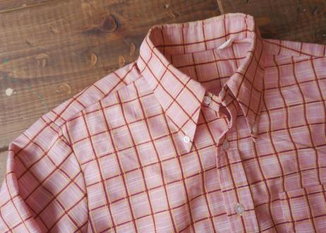 70's L/S check shirt