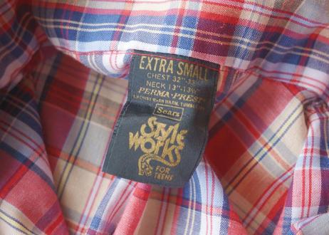 Sears s/s check shirt