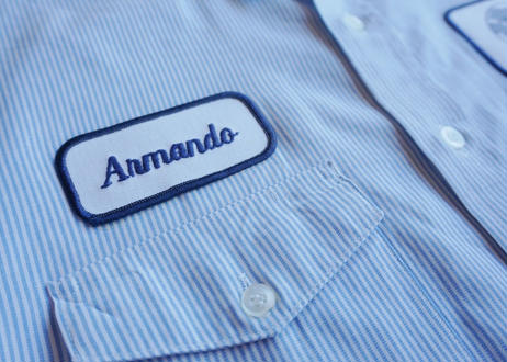 Unitog s/s stripe work shirt