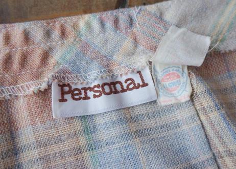 Personal check skirt