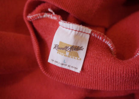 70's Russell athletic hoodie Red