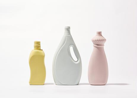 Bottle Vase Project- porcelain bottle vase #15 powder