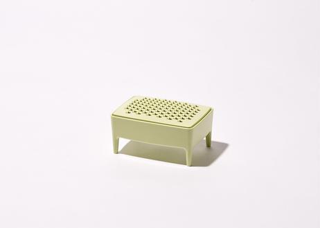 バスルームセットA(花瓶/ピンク+石鹸置き/グリーン)