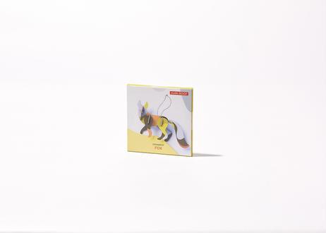 リビングセットC(キャンドル/イエロー + 花瓶カバー/緑 + オーナメント/キツネ)