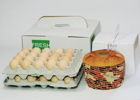 美黄卵さくら40個とたまごシフォンセット