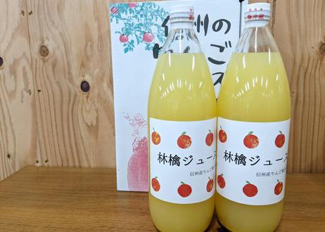 りんごジュース 1000ml×2本 濃厚ストレートジュース  長野県産サンふじ100%使用 夏ギフトにも!