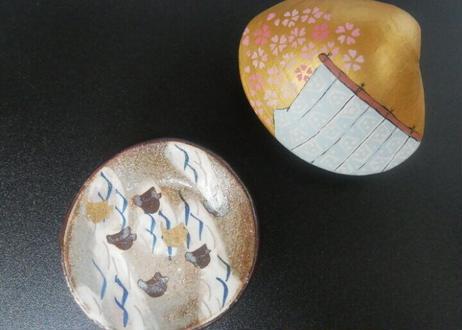 乾山絵変り豆皿