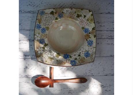 花詰(青) スープ皿/パスタ皿