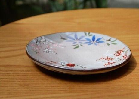 5寸皿 四季草花(梅・桜・鉄線・萩)