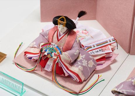 「ASAGIRI」シリーズ 雛人形 コンパクト親王飾り 正絹友禅 20-AP