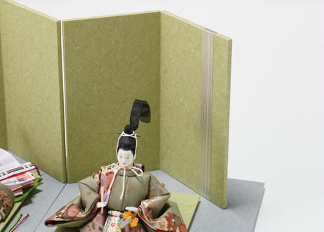 「ASAGIRI」シリーズ 雛人形 コンパクト親王飾り 正絹友禅  20-FG