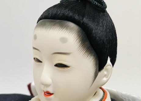 雛人形 コンパクト親王飾り 正絹鮫小紋柄 金銀砂子屏風 20-N金銀ちらし