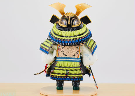 正絹萌黄糸縅 おぼこ大将飾り