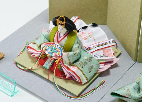 「ASAGIRI」シリーズ 雛人形 コンパクト親王飾り 正絹友禅  20-HG