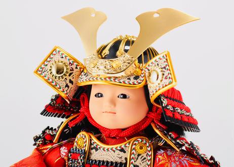 正絹赤糸縅 おぼこ大将飾り
