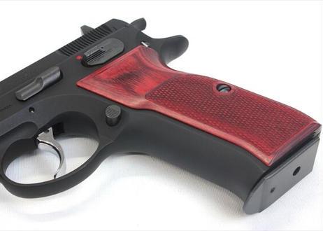 ウッドグリップ KSC製 CZ75 チェッカー/レッド [AWG-450]