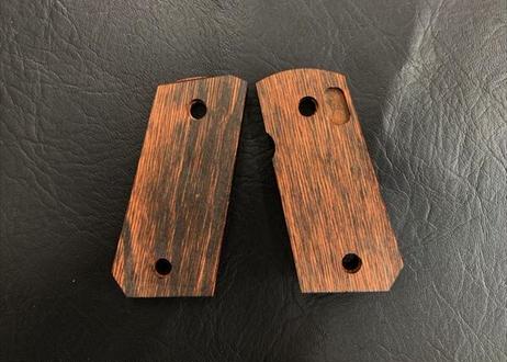 ウッドグリップ|デトニクス.45|フルチェッカー/ブラウン