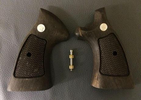 ウッドグリップ|S&W|K/Lフレーム|M19オーバーサイズ用|黒檀