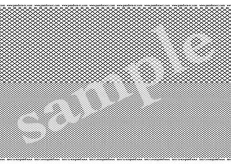 3D  Cross-mesh Decal  Black