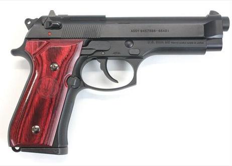 ウッドグリップ U.S.M9/M9A1 スムースロゴ/レッド