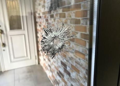 弾痕(ガラス)|9×19㎜| BULLET HOLES|GLASS