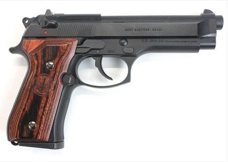 ウッドグリップ U.S.M9/M9A1 スムースロゴ/ブラウン