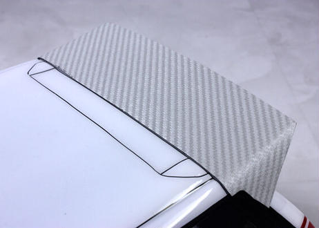 3D Carbon Style Decal |Silver