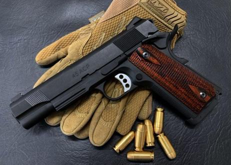 ウッドグリップ|M45CQP/DOC|ダイヤチェッカー/ブラウン