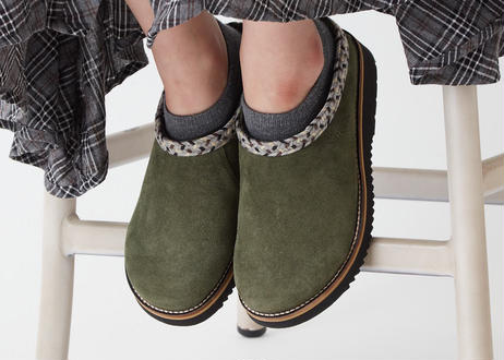 Rincon Point Clog Suede    OLIVE