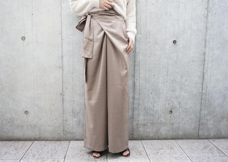 WAIST WRAP WIDE PANTS