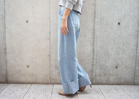 ROLL UP HIGHWAIST LOOSE DENIM