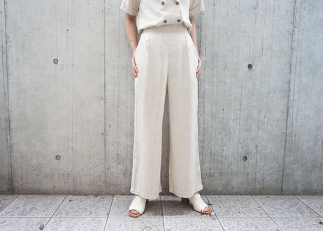 LINEN DOUBLE BUTTON SET-UP
