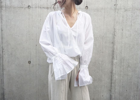 WASTE MARK SHEER BLOUSE