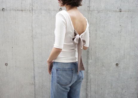 BACK RIBBON RIB TOPS