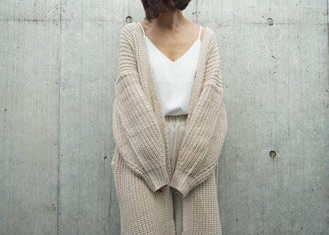 LOW GAUGE LONG KNIT CARDI