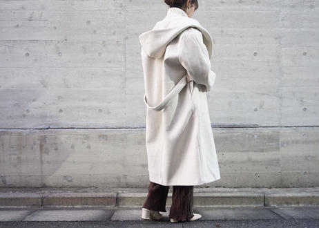 HOOD LONG GOWN COAT