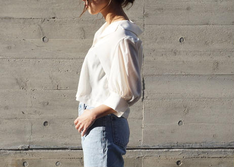 SHEER SHORT BLOUSE