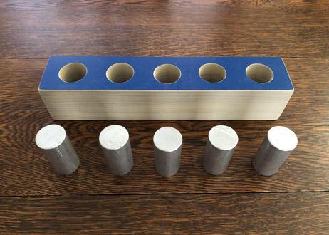 円柱差し(直線5個穴)