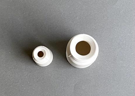 3 lines bottle vase / S / white