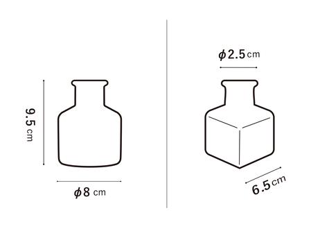 工場型角小瓶