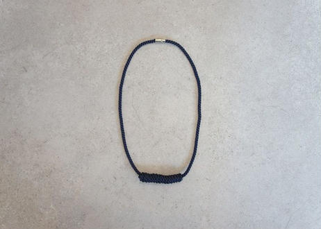NOEUD Lineknot-necklace L Navy