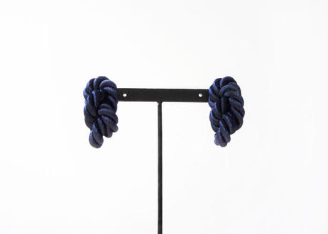 NOEUD 8knot-pierce / earrings Navy