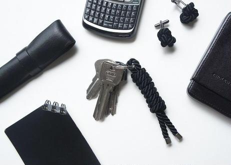 NOEUD Lineknot-keyring Black