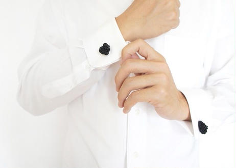 NOEUD 8knot-cufflinks Black
